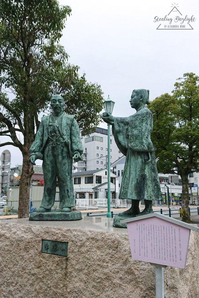 長濱站 豐臣秀吉 石田三成 雕像